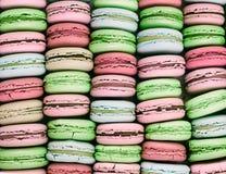 Macarons bakgrund Royaltyfri Fotografi