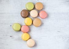 Macarons in bloemvorm Stock Fotografie