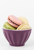 Macarons in a bowl Royalty Free Stock Images