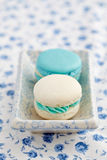 Macarons in a bowl Royalty Free Stock Photos