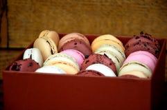 Macarons box Stock Photos