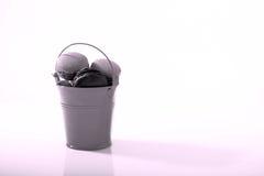 Macarons bucket Royalty Free Stock Photos