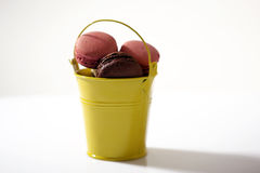 Macarons bucket Royalty Free Stock Photos