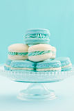 Macarons on cake stand Stock Photos