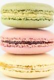 Macarons close up Stock Photos