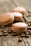 Macarons with coffee flavor Royalty Free Stock Images