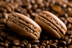 Macarons with coffee flavor Royalty Free Stock Photography