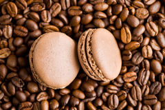 Macarons with coffee flavor Stock Photo