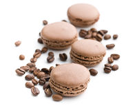 Macarons with coffee flavor Royalty Free Stock Image
