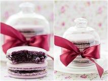 Macarons. Collage. Royalty-vrije Stock Fotografie