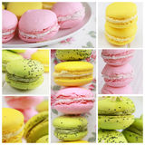 Macarons collage Stock Image