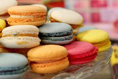 Macarons coloré Image libre de droits