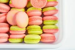 Macarons colorés Images libres de droits
