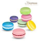 Macarons colorés savoureux Photo stock