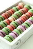 Macarons Color. This is matcha cocoa macarons and Blueberrymacarons,delicious teatime Royalty Free Stock Images
