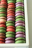 Macarons Color. This is matcha cocoa macarons and Blueberrymacarons,delicious teatime Stock Photo