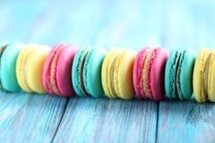 Macarons coloré Images stock