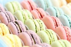 Macarons colorato pastello Immagini Stock Libere da Diritti