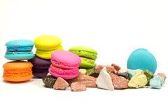 Macarons colorido Imagens de Stock