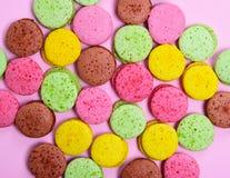 Macarons coloridos da pastelaria Foto de Stock Royalty Free