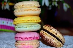 Macarons coloridos dulces Foto de archivo libre de regalías