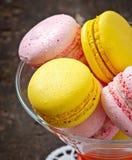 Macarons coloridos franceses fotografía de archivo