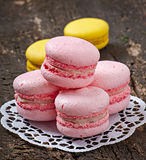 Macarons coloridos franceses imagen de archivo