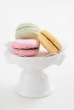 Macarons. Colourful macarons on a cake stand Royalty Free Stock Photography