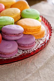 Macarons. Colourful macarons. Shallow depth of field Royalty Free Stock Photos
