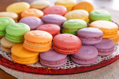 Macarons. Colourful macarons. Shallow depth of field Royalty Free Stock Photography