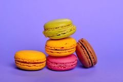 Macarons délicieux Photos libres de droits