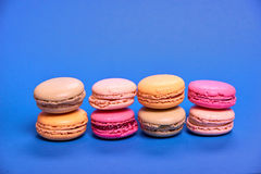 Macarons délicieux de colorfull Photo stock