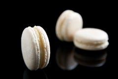 Macarons da baunilha Fotografia de Stock