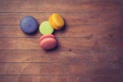 Macarons da cor Fotos de Stock Royalty Free
