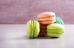 Macarons da cor diferente Foto de Stock