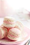 Macarons de fraise Photographie stock libre de droits