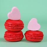 Macarons de fraise Image libre de droits