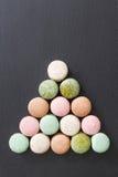 Macarons de gâteau de couleur, macaron doux Photographie stock libre de droits