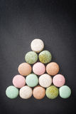 Macarons de gâteau de couleur, macaron doux Photographie stock