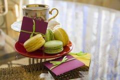Macarons de matin d'amour Photo stock