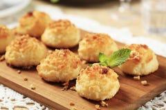 Macarons de noix de coco Image libre de droits
