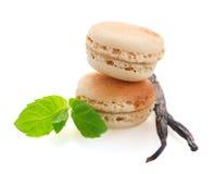 Macarons de vanille images libres de droits