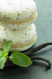 Macarons de vanille Photos libres de droits
