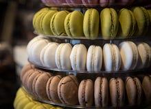 Macarons deliciosos coloridos frescos imagem de stock royalty free