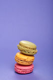 Macarons deliciosos do colorfull Imagem de Stock