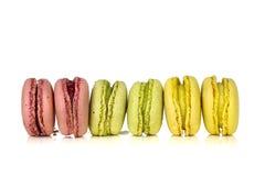 Macarons dell'allineamento Fotografia Stock Libera da Diritti