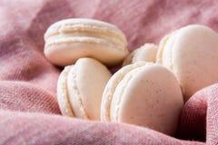 Macarons della vaniglia fotografia stock
