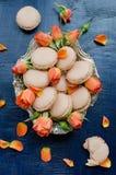 Macarons della vaniglia Fotografie Stock Libere da Diritti