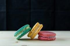 Macarons den franska läckra efterrätten Royaltyfri Fotografi
