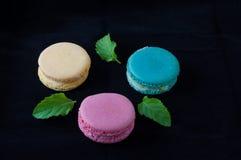 Macarons den franska läckra efterrätten Royaltyfria Foton
